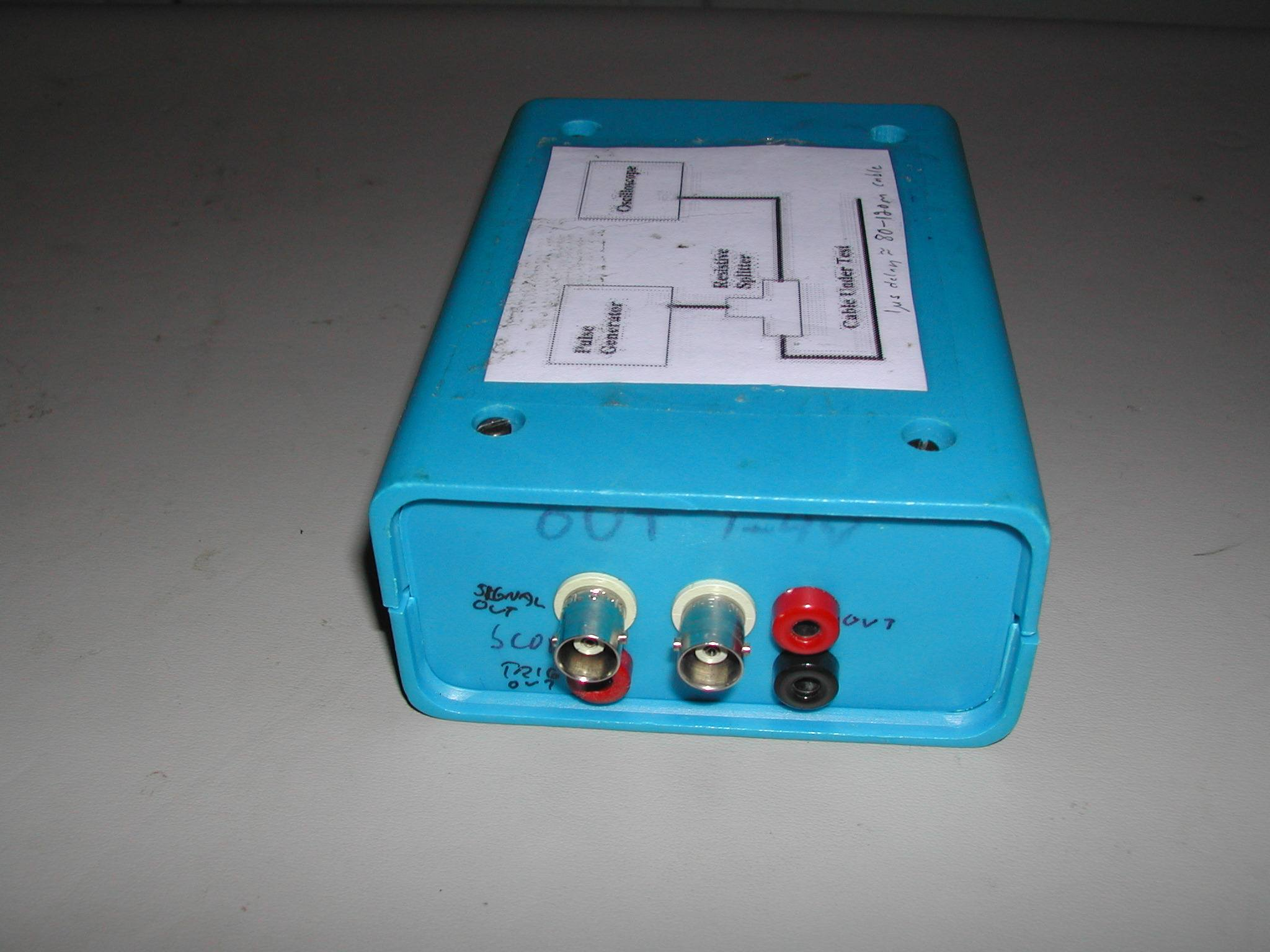 Tdr Circuit Tester Further Work Cable Diagram On Back
