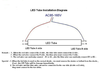 led tubes connect circuit diagram