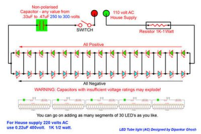 ledtube_STEP 1 circuit inside led tube led flood light wiring diagram at gsmportal.co