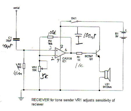 cable tracing inductive amplifier rh epanorama net Water Line Tracer Wire wire tracer circuit schematic