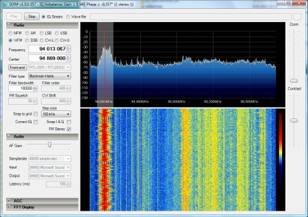 Software defined radio with USB DVB-T stick |