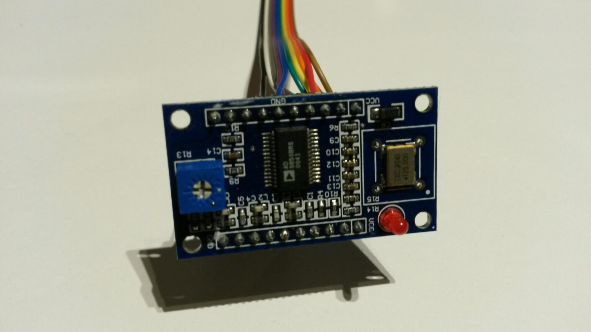Testing an AD9850 DDS module |