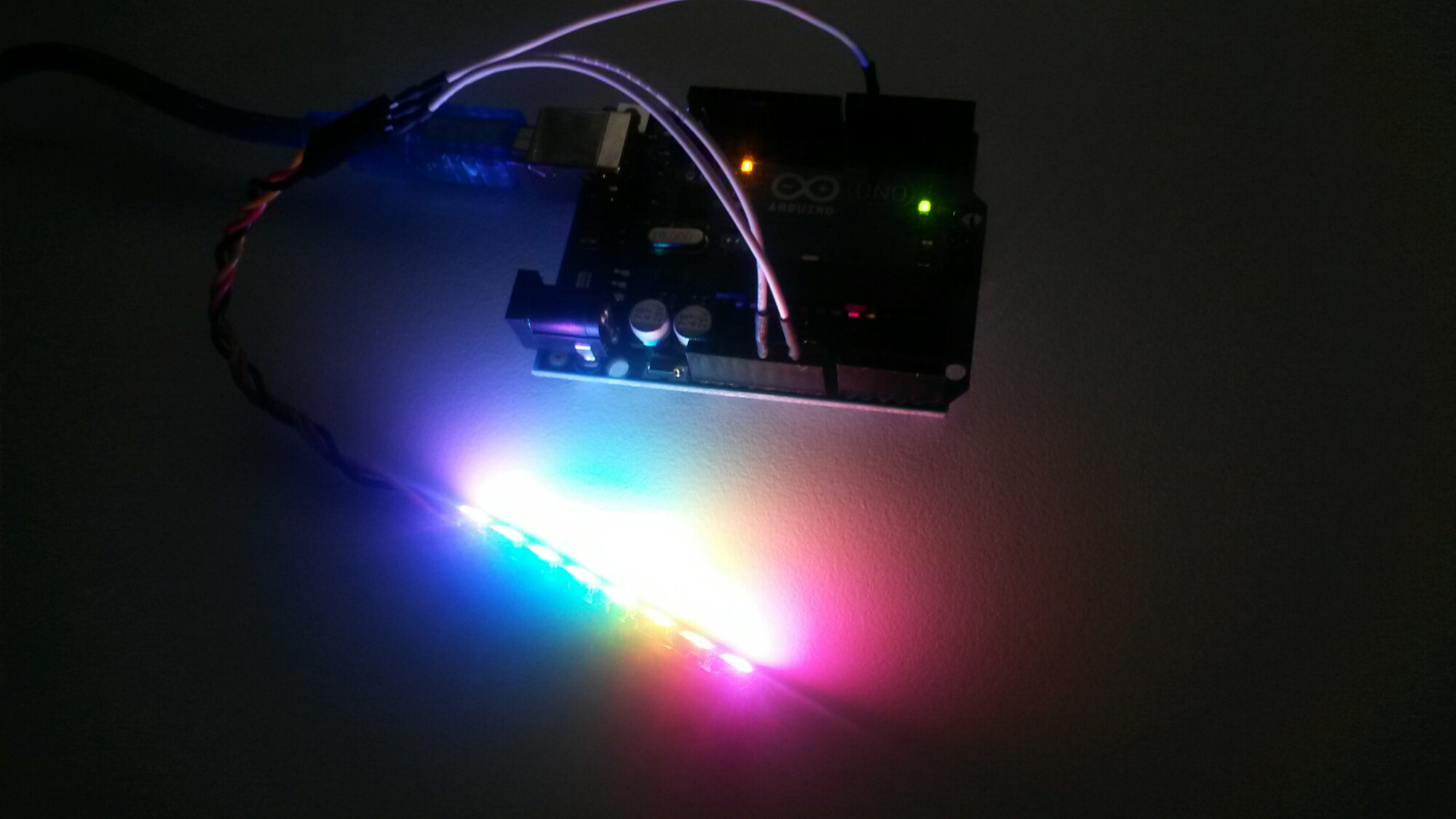 WS2812 addressable LEDs test |