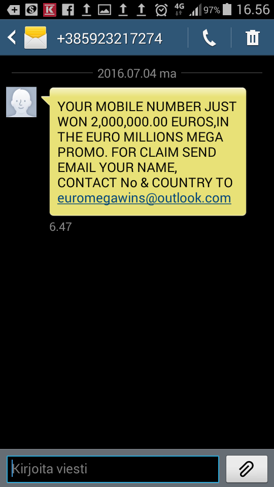 Warning on SMS scams sent to Finnish phones