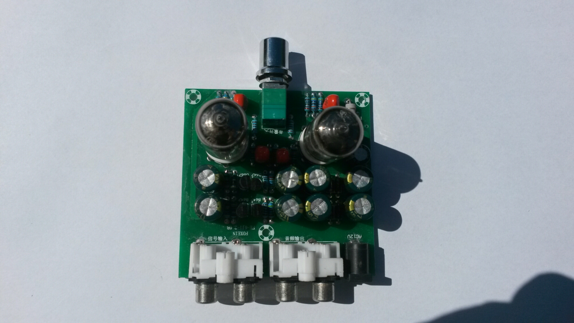 Tube Preamp Kit Fe 6j1 20b Module Volume Control Amplifier Headphone Board Diy When I Powered The It Did What Promised Worked Ok As A Preamplifier