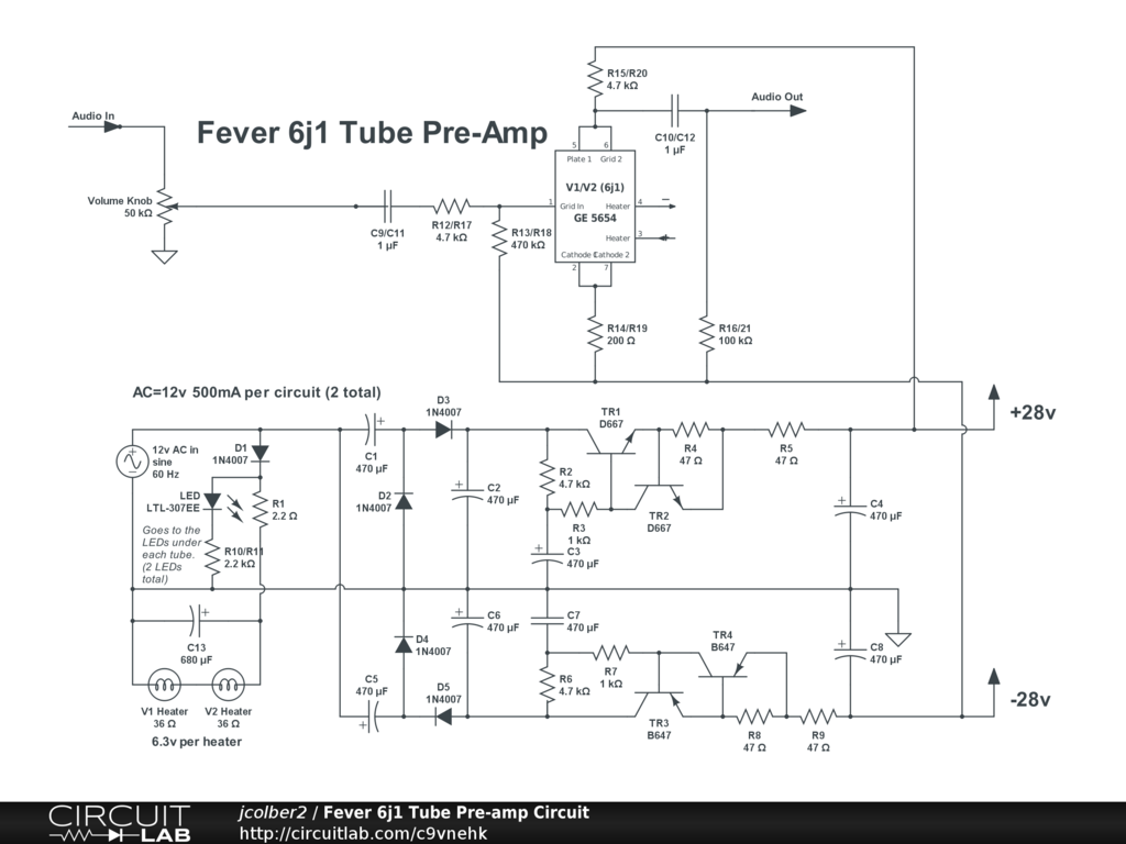 Tube Preamp Kit Fe 6j1 20b Amp Diagram Tubepre