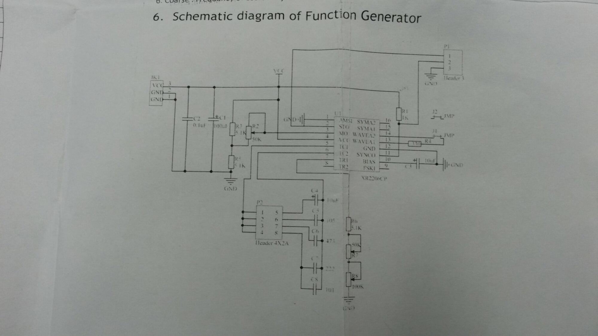 Function Generator Kit Simple Circuit Electronic Circuits And Diagram