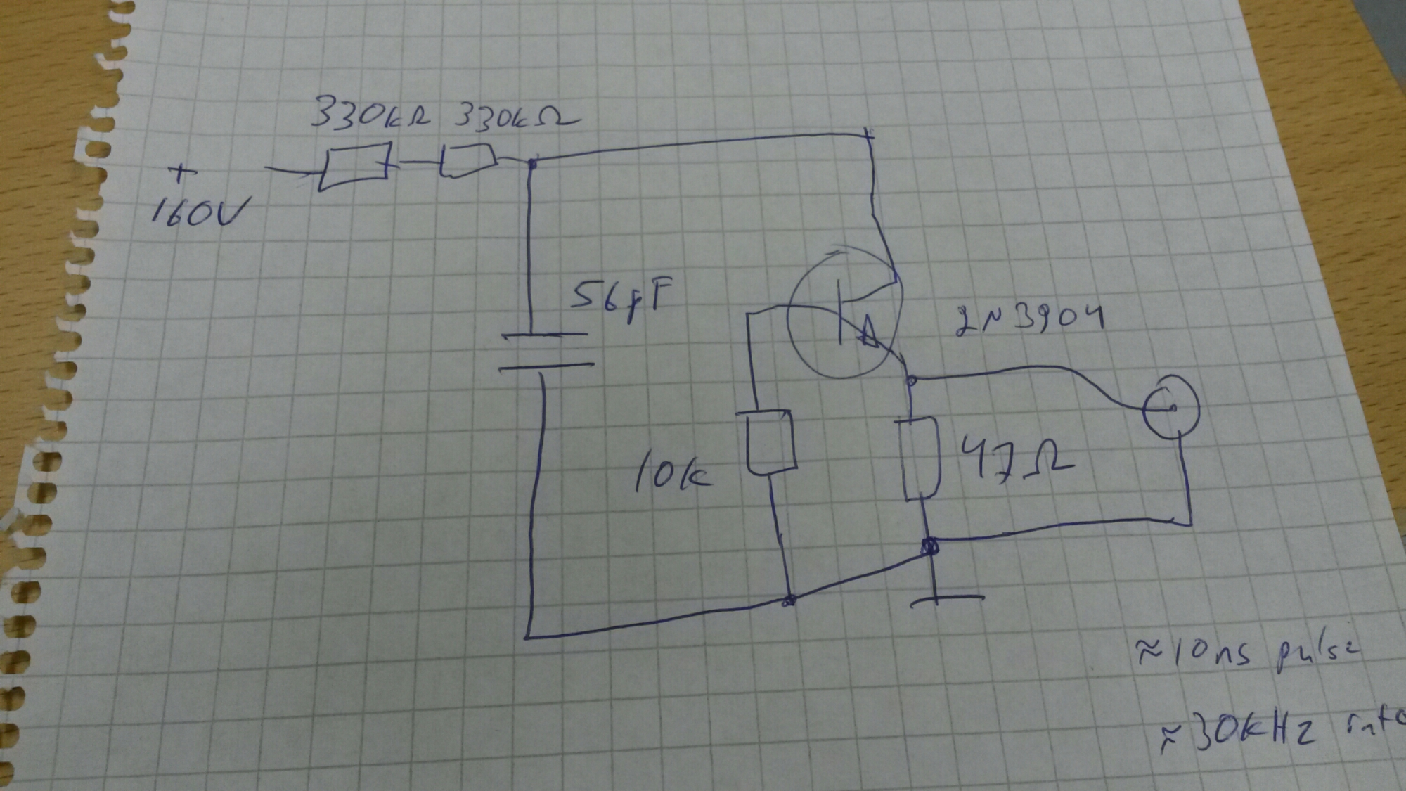 Avalanche Pulse Generator Circuit Diagram I Have Now A Working With Around 1 Nanosecond Rise Time