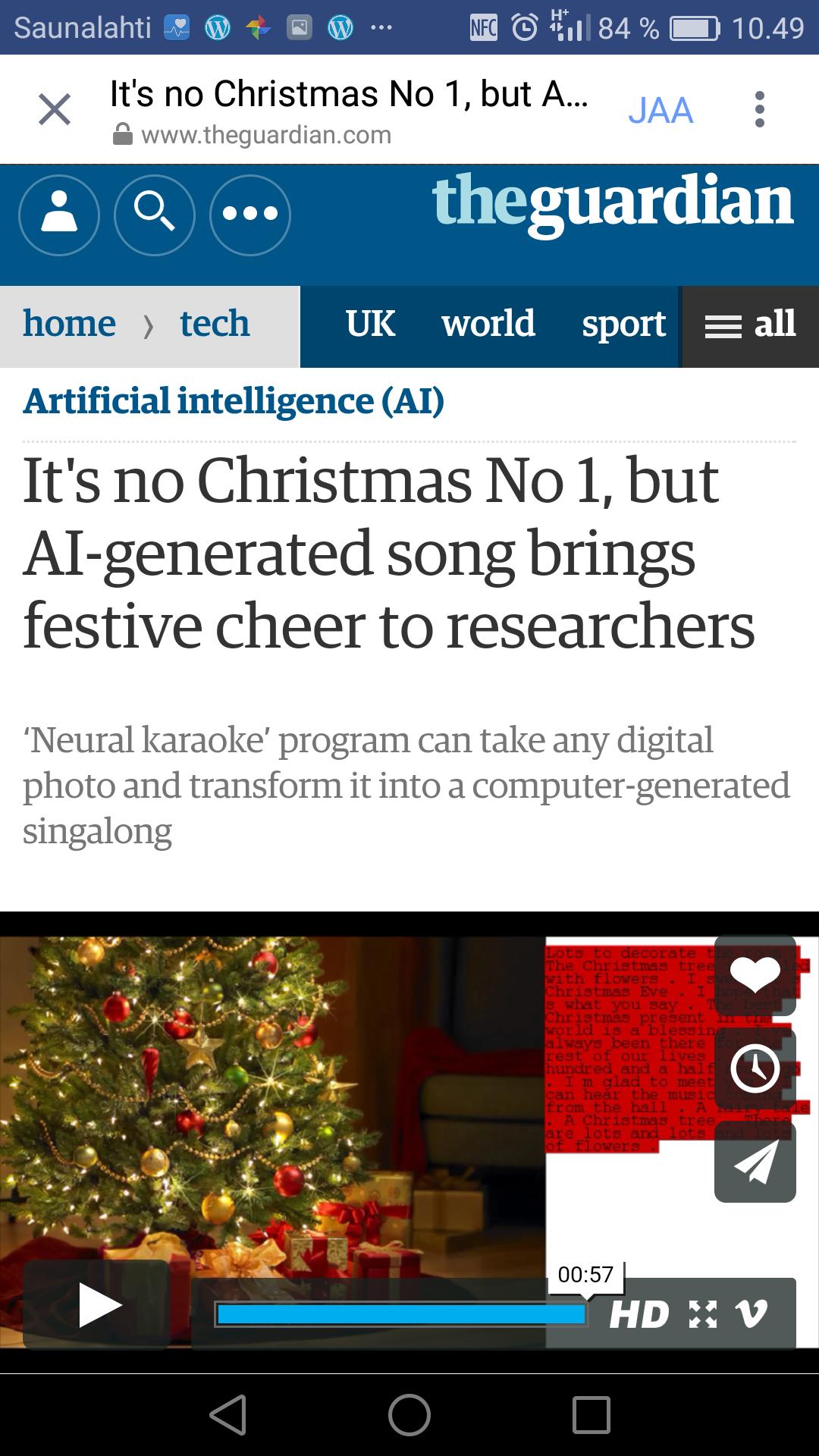 It\'s no Christmas No 1, but AI-generated song brings festive cheer ...