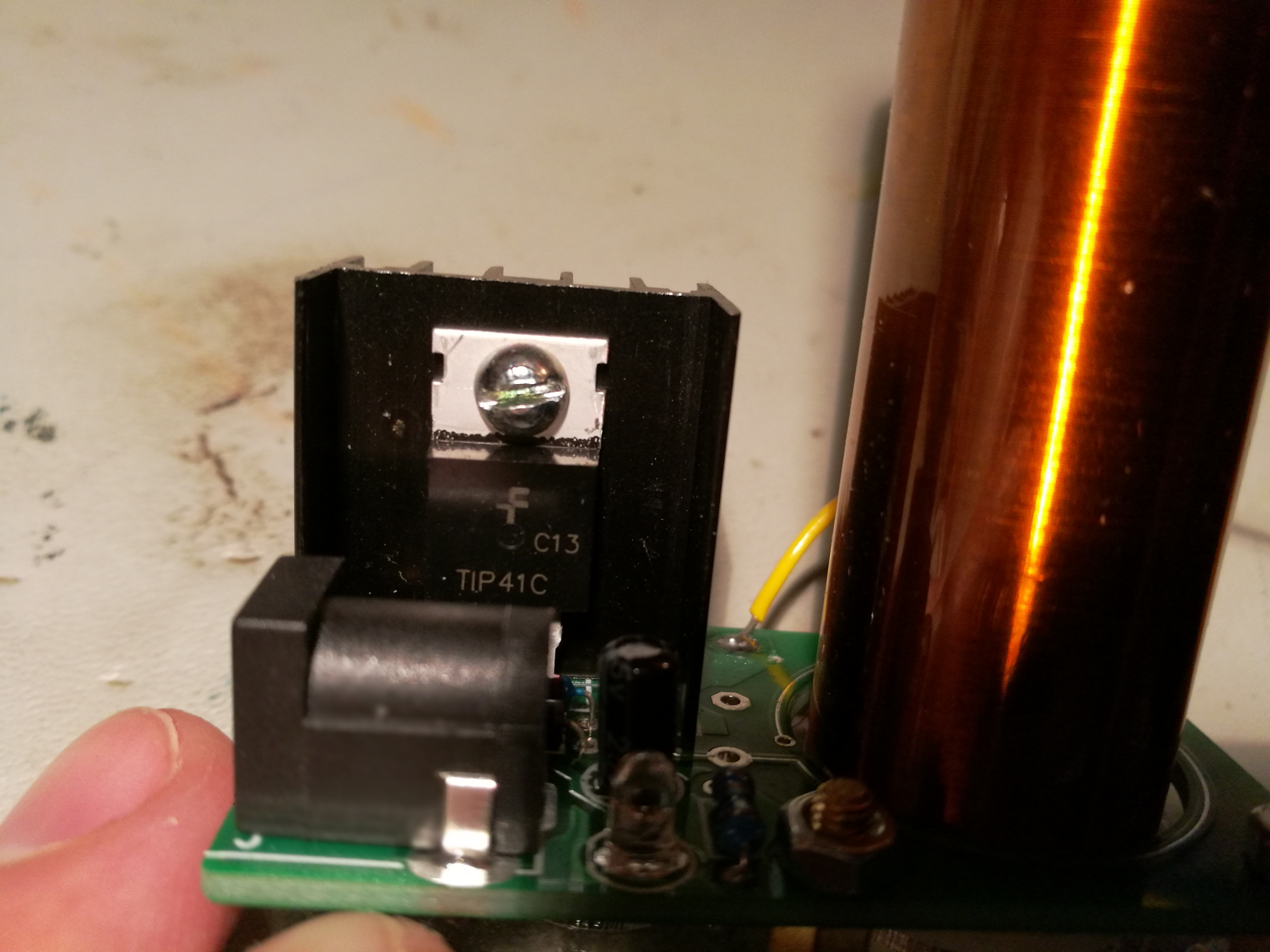 Tiny Tesla Coil Tested Plasma Ball Driver Schematic The Circuit Is Powered With Mains Power Supply That Gives Out 9v 1a Dc To Electronics
