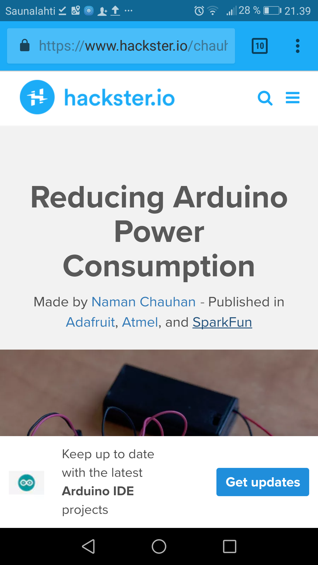 Reducing arduino power consumption hackster