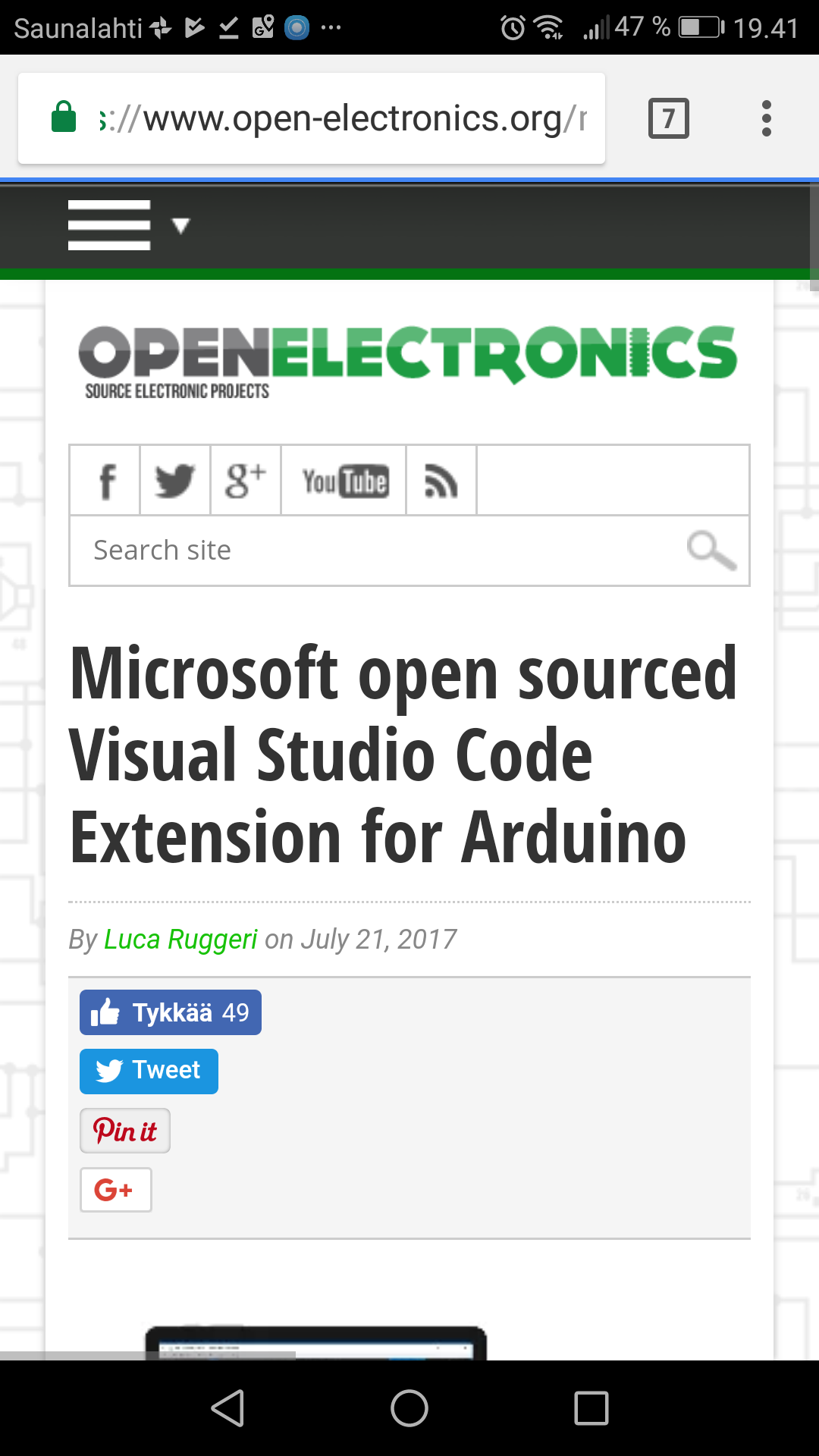 Microsoft open sourced visual studio code extension for