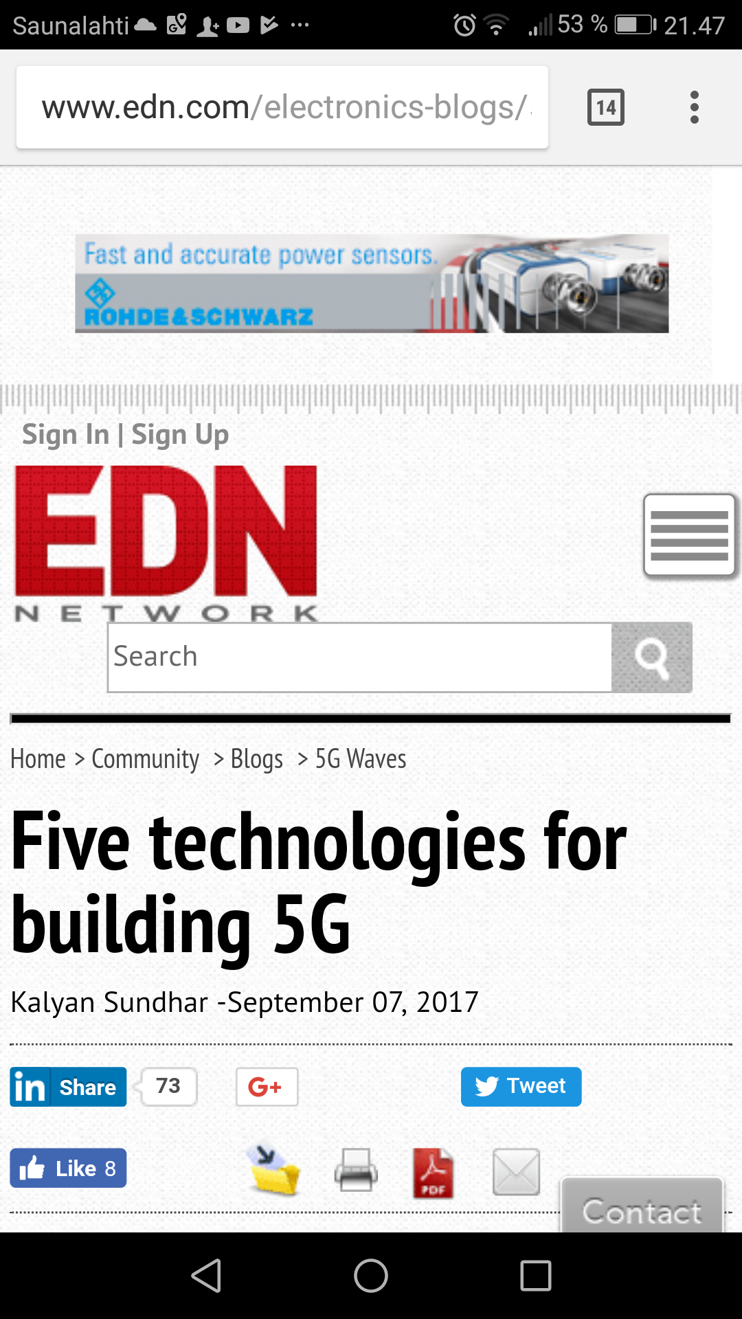 Five technologies for building 5G | EDN |