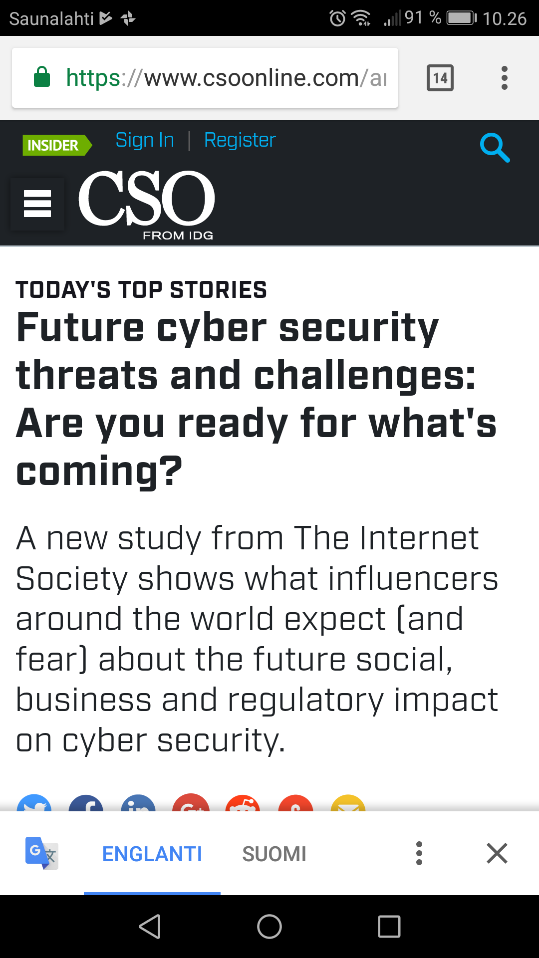 Future cyber security threats and challenges: Are you ready for