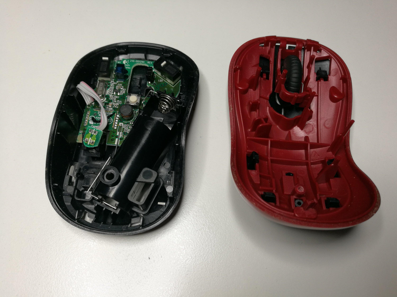Logitech wireless mouse teardown |