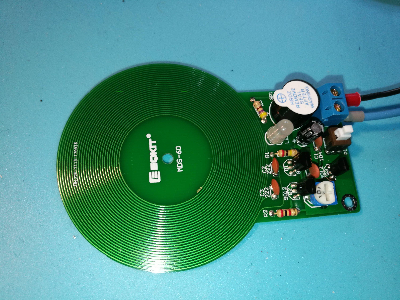 Metal detector kit converted to Arduino sensor  