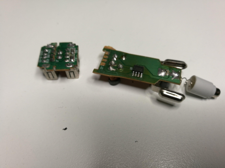 Failed    car    USB charger teardown