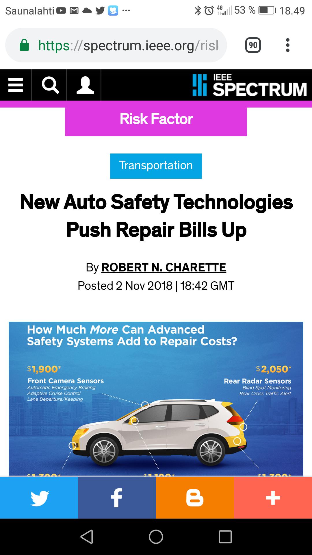 New Auto Safety Technologies Push Repair Bills Up – IEEE