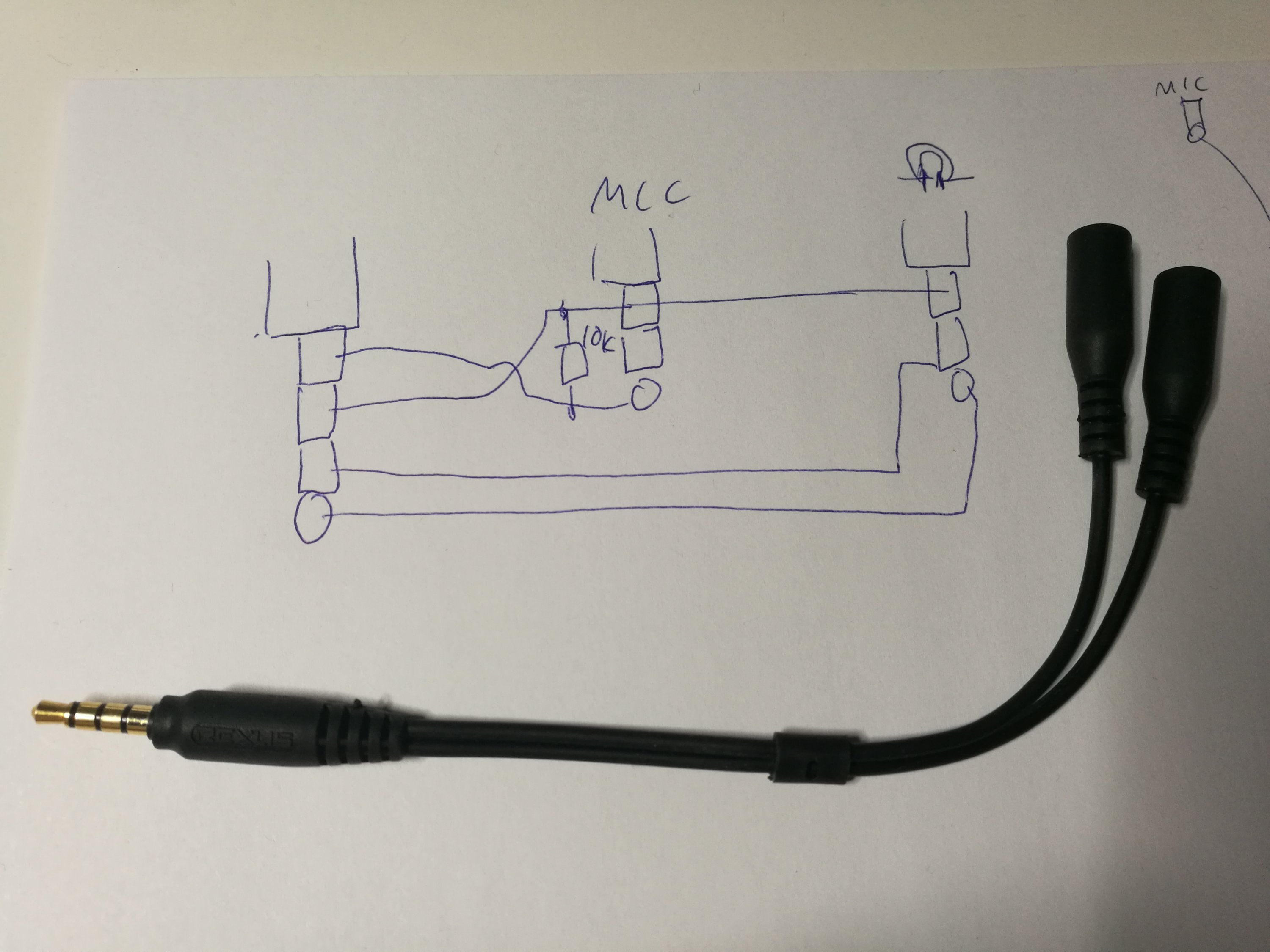 TRRS plug to two TRS jack headset adapters | Which Wiring Is Used To Draw Trs Cable on